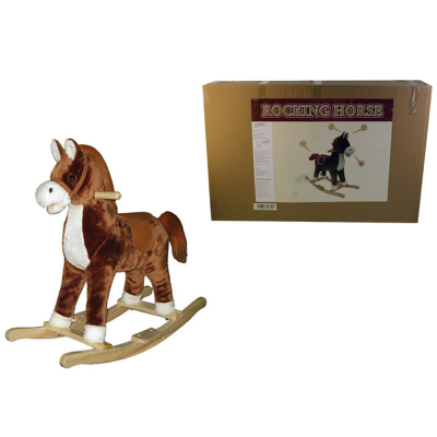 LIGHT BROWN ROCKING HORSE