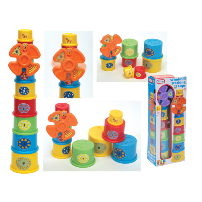 WINDMILL STACKING CUPS (2 ASSTD)(N)