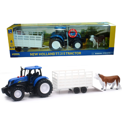 1:24 TRY ME NEW HOLLAND TRACTOR/TRAILER