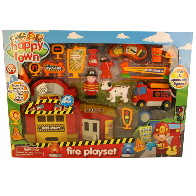 HAPPY TOWN FIRE PLAYSET