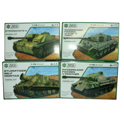 MODEL TANK KIT 1:24 4ASSTD