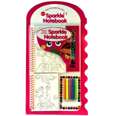 2PC COL SPARKLE NOTEBOOK