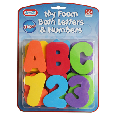 36PCS EVA BATH LETTERS & NO'S