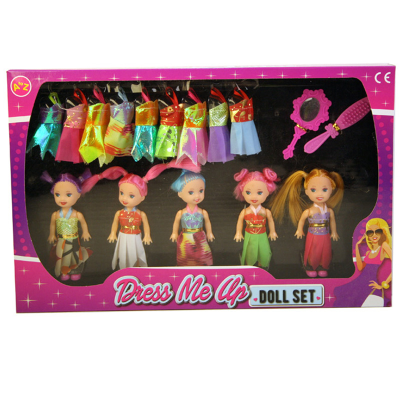 BEST FRIENDS DOLL SET 5PCS