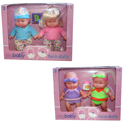 TWIN BABY DOLLS 2PCS (2 ASSTD)
