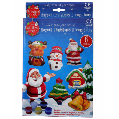 MOULD & PAINT XMAS DECORATION MAGNETS