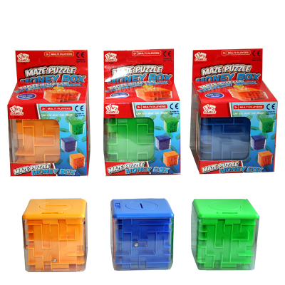 PUZZLE MONEY BOX  (3 ASSTD)