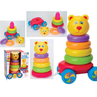 PULL ALONG STACKING TEDDY (N)