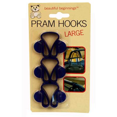 PRAM HOOKS LARGE 3PCS