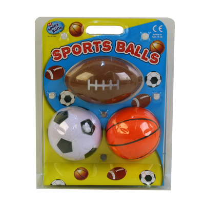 3PCS FOAM SPORTS BALL SET