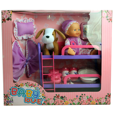 BUNK BED WITH DOG & DOLL